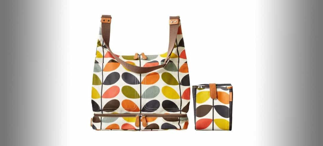 colourful changing bag