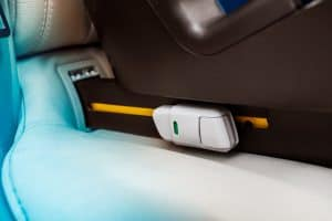 isofix plate in a car