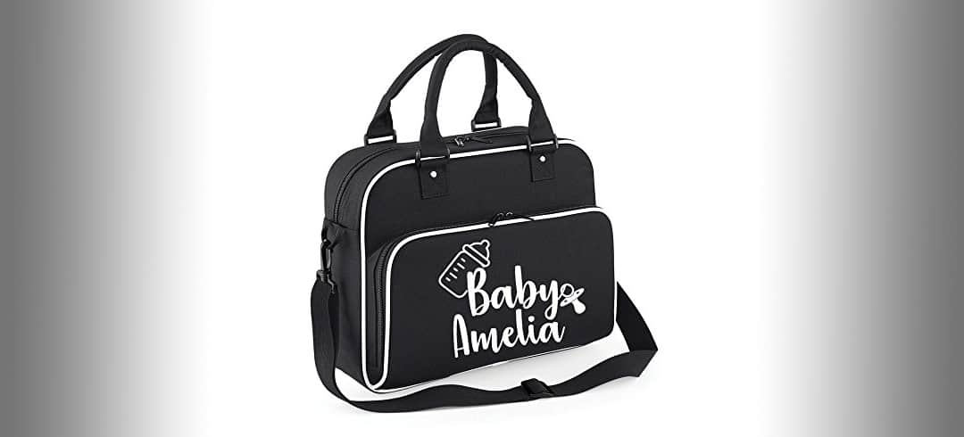 personalised changing bag