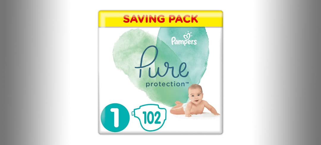 Pampers Pure Disposable Nappies